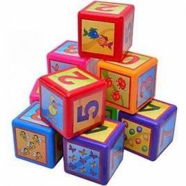 Кубики пластмассовые Математика  большие 020/3 Bamsic