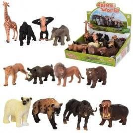 Животные дикие большие  поштучно 12 видов TBS021