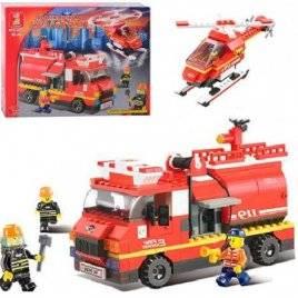 Конструктор Пожарные спасатели с машиной и вертолетом 409 деталей Sluban M38-B0222