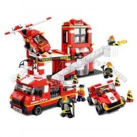 Конструктор Пожарная часть 727 деталей Sluban 620040 0227