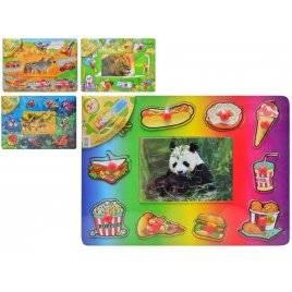 Деревянная игрушка рамка-вкладыш Животный мир MD 0213