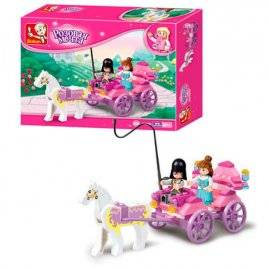 Конструктор карета с принцессой 99 деталей M38-B0239 SLUBAN