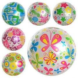 """Мяч детский 9 дюймов надувной резиновый блестящий """"Рисунки"""" 0246"""