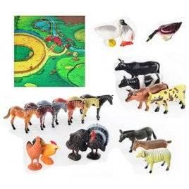 Набор фигурок Домашние животные 20 штук 0255