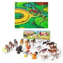 Набор фигурок Домашние животные резиновые 0256 (большой набор)
