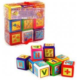 Кубики пластмассовые  Математика малые 028/2 Bamsic
