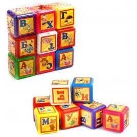 Кубики пластмассовые Азбука  малые 028/3 Bamsic