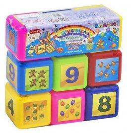 Кубики малые Математика 9 штук 028/6 Бамсик