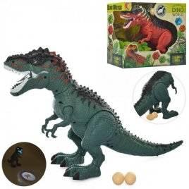 Динозавр со звуком и светом ходит несет яйца KQX-02
