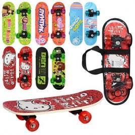 Скейт детский малый 5 видов Мультики