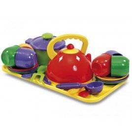 Посудка детская большая с подносом 0309