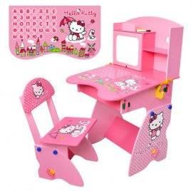 """Парта детская растишка со стульчиком, полочкой и мольбертом М 0324 """"Hello Kitty"""""""