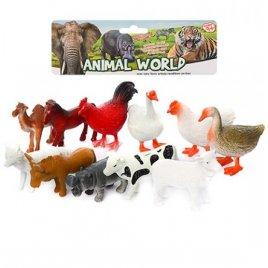 Набор фигурок домашние животные 11 штук Q035