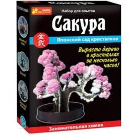Набор для исследований  Дерево из кристаллов Сакура/Бонсай/Японский клен 0350