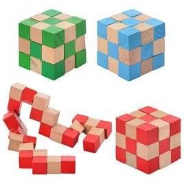 Кубик-рубика деревянная головоломка MD 0355
