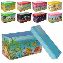 Пуф для игрушек Ящик-коробка 6 видов большой 0362