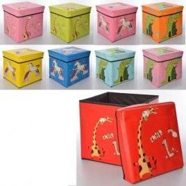 Пуф для игрушек куб Забавные зверушки 0364
