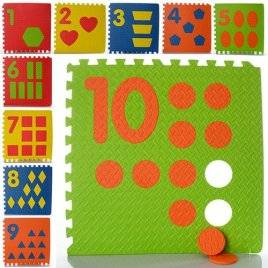 Уценка!Коврик пазл для детей Мегаразмер Цифры и фигуры М 0384