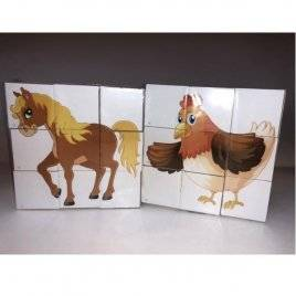 Кубики Домашние животные 0411 Бамсик