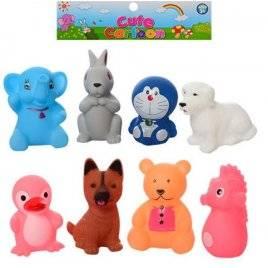 Пищалки игрушки для купания Животные 8 штук 042