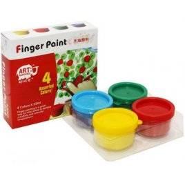 Краски для пальцев 4 цвета 35 мл RFC0435