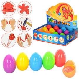 Жвачка для рук противоударная, прыгучая в цветном яйце 0444