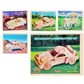 Деревянные Пазлы 3D Машины сборная модель 0472