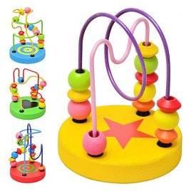 Лабиринт деревянный игрушка   на проволочке малый MD 0489