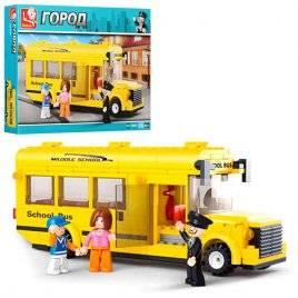 Конструктор Автобус школьный желтый 219 деталей M38-B0507