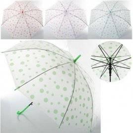 Уценка! Зонтик детский зеленый горошек клеенка MK 0523