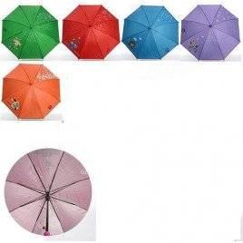 Уценка!Зонтик детский красный принт паровозик МК 0525