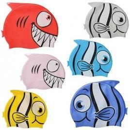 Шапочка для плавания желтая рыбка 0559