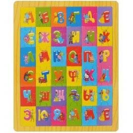 Азбука Пазлы деревянные Учим алфавит с мультиками MD 0561