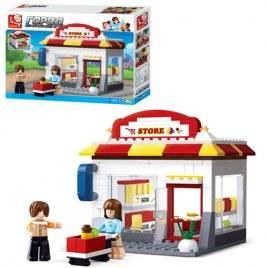 Конструктор детский Магазин + кафе M38-B0571 Sluban
