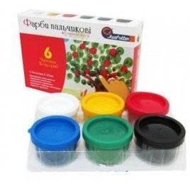 Краски пальчиковые 6 цвета 35 мл RFC0635