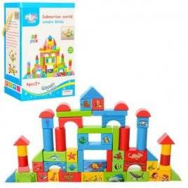 Деревянная игрушка Городок 68 деталей MD 0657