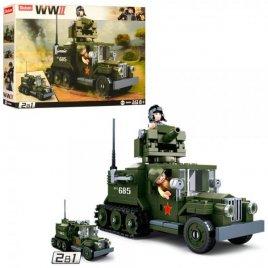 Конструктор военная машина 2в1 243 детали M38-B0685 SLUBAN