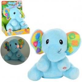 Интерактивная игрушка Слон плюшевый с музыкой и светом 0695-NL WinFun
