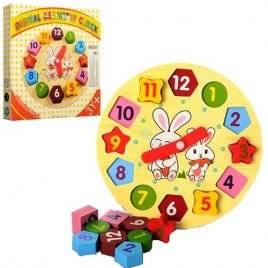 Деревянная игрушка Часы - сортер MD 0719