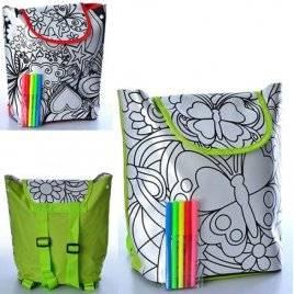 Раскраска рюкзак с фломастерами на липучке застежке 0726
