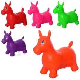 Прыгун лошадка резиновый для детей 5 цветов 0736-1