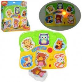 Игрушка для малышей Музыкальные пазлы-животные 0771 WinFun