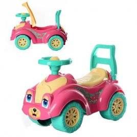 Машинка-каталка для прогулок Розовая кошка 0823 Технок, Украина