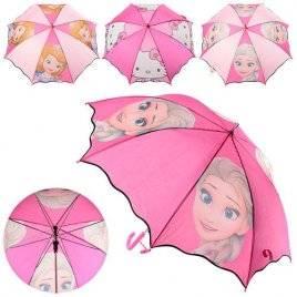 Зонт розовый мультфильм 0863