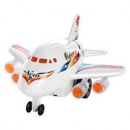 Самолет детский заводной со светом 0869 А