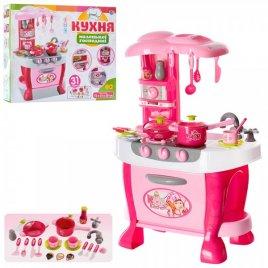 Кухня детская для мальчиков и девочек оранжево-красная 008-801А