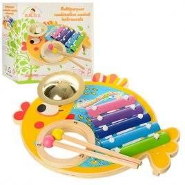 Ксилофон деревянная игрушка большая Рыбка MD 0903