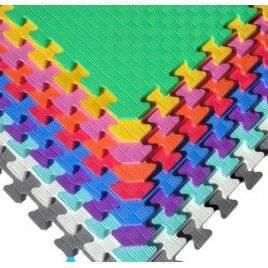 Коврик пазл мягкий разноцветный рефленый 10 пазлов Веселка 50-50-1 см ЕВА