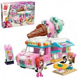 Конструктор для девочек авто кафе Мороженое 388 деталей 2029 Qman