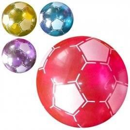 Мяч детский 6 дюймов Футбол прозрачный ПВХ MS 0924
